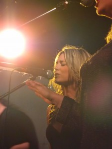 Kelly on stage in Oxford